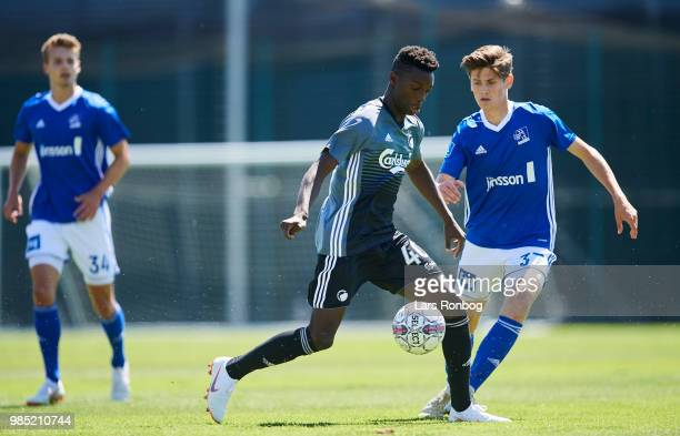 Mohamed Daramy of FC Copenhagen in action during the friendly match between FC Copenhagen and Lyngby Boldklub at KB's baner on June 27 2018 in...