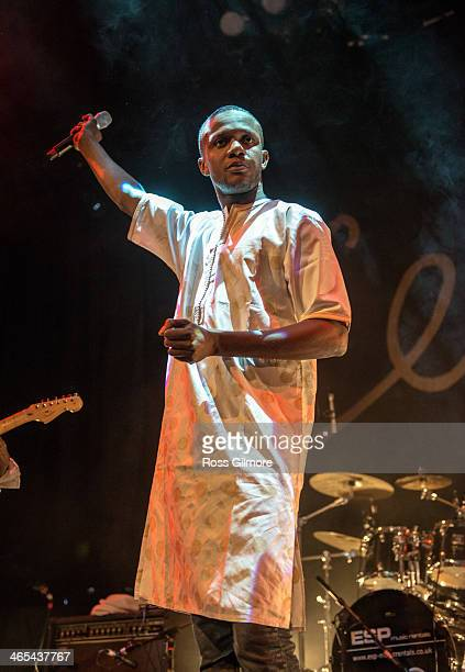 Mohamed Diaby of Debademba performs on stage during Celtic Connections Festival at The Old Fruit Market on January 26 2014 in Glasgow United Kingdom
