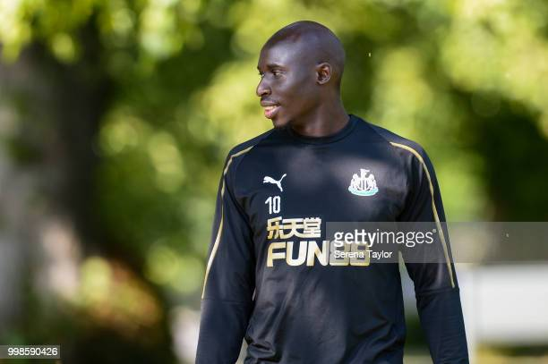 Mohamed Diame during the Newcastle United Training session at Carton House on July 14 in Kildare Ireland