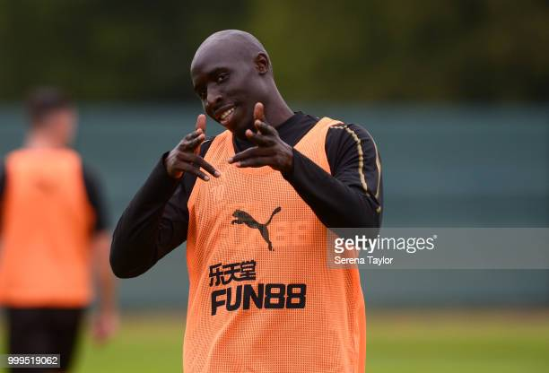 Mohamed Diame during the Newcastle United Training session at Carton House on July 15 in Kildare Ireland