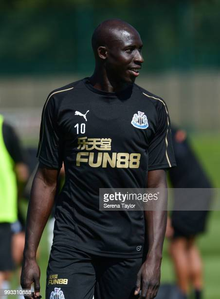 Mohamed Diame during the Newcastle United Training Session at the Newcastle United Training Centre on July 7 in Newcastle upon Tyne England
