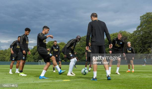 Mohamed Diame is in the middle during a game of possession also seen from LR Jamaal Lascelles Josef Yarney Ayoze Perez Javier Manquillo Rolando...
