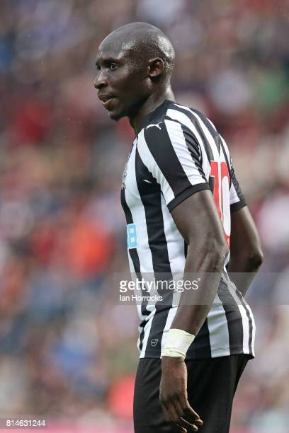 Mohamed Diame of Newcastle during a preseason friendly match between Heart of Midlothian and Newcastle United on July 14 2017 in Edinburgh Scotland