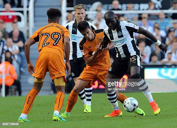Mohamed Diame of Newcastle during the Sky Bet Championship match between Newcastle United and Wolverhampton Wanders at St James' Park on September 17...