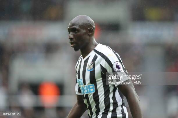 Mohamed Diame of Newcastle United during the Premier League match between Newcastle United and Chelsea FC at St James Park on August 26 2018 in...