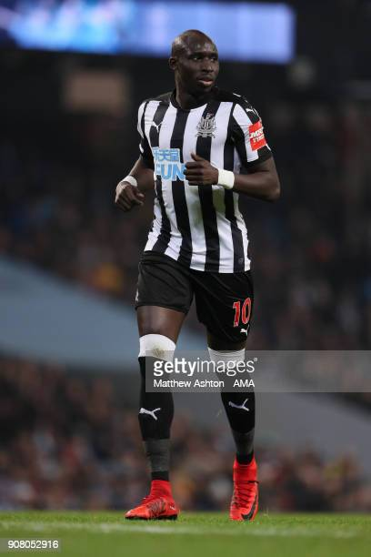Mohamed Diame of Newcastle United during the Premier League match between Manchester City and Newcastle United at Etihad Stadium on January 20 2018...