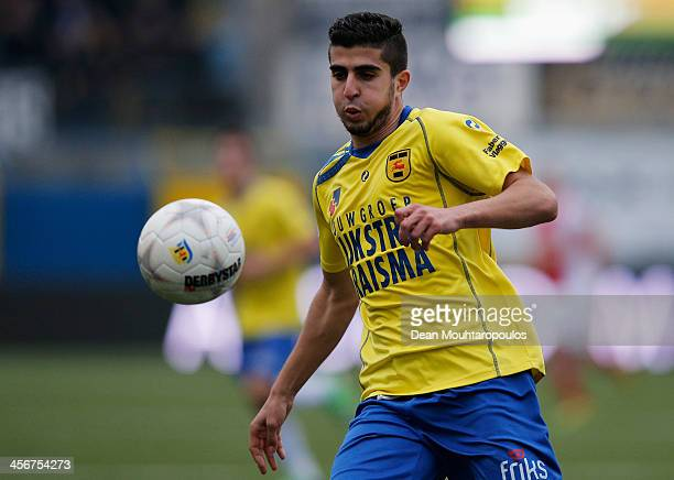 Mohamed El Makrini of Cambuur in action during the Eredivisie match between SC Cambuur and Ajax Amsterdam held at Cambuur Stadion on December 15 2013...