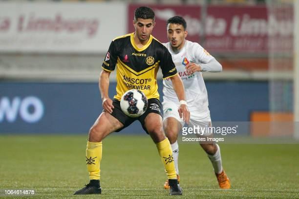 Mohamed el Makrini of Roda JC Anass Najah of Telstar during the Dutch Keuken Kampioen Divisie match between Roda JC v Telstar at the Parkstad Limburg...