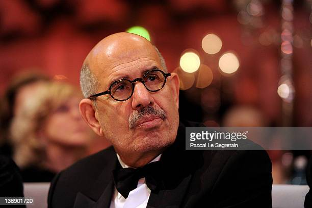 Mohamed ElBaradei attends the Cinema for Peace Gala ceremony at the Konzerthaus Am Gendarmenmarkt during day five of the 62nd Berlin International...