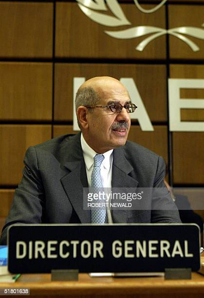 Mohamed Elbaradei, Director General of International Atomic Energy Agency , is seen at a press conference at International Atomic Energy Agency , 29...
