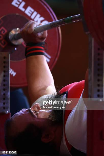 Mohamed Eldib of Egypt competes during the Men's Up to 97Kg Group A Category as part of the World Para Powerlifting Championship Mexico 2016 at Juan...