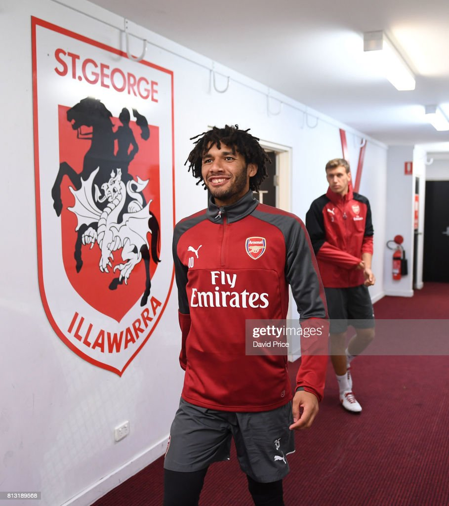 Mohamed Elneny of Arsenal before the Arsenal Training Session at Koragah Oval on July 12, 2017 in Sydney, Australia.