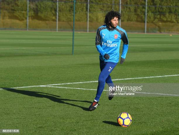 Mohamed Elneny of Arsenal during a training session at London Colney on December 1 2017 in St Albans England