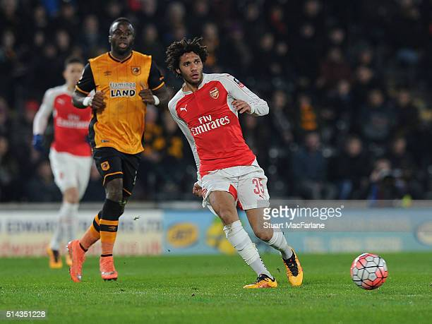 Mohamed Elneny of Arsenal during the Emirates FA Cup 5th Round replay between Hull City and Arsenal at the KC Stadium on March 8 2016 in Hull England
