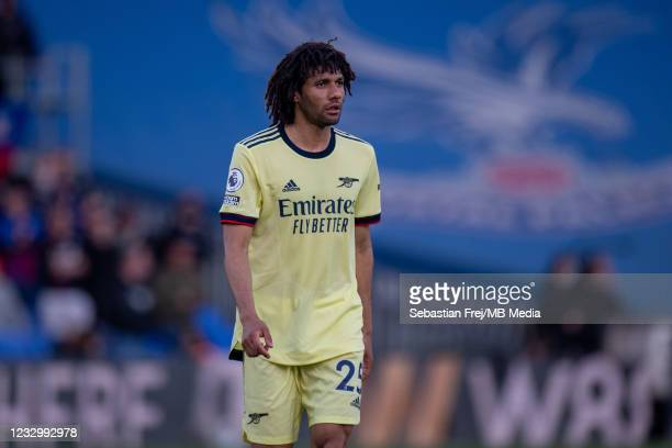 Mohamed Elneny of Arsenal during the Premier League match between Crystal Palace and Arsenal at Selhurst Park on May 19, 2021 in London, United...