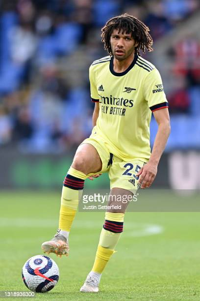 Mohamed Elneny of Arsenal during the Premier League match between Crystal Palace and Arsenal at Selhurst Park on May 19, 2021 in London, England.