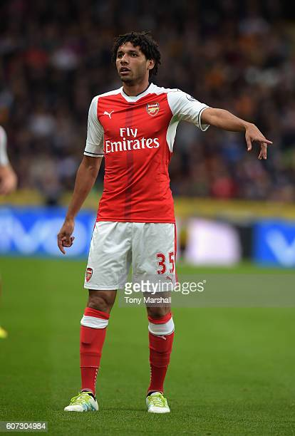 Mohamed Elneny of Arsenal during the Premier League match between Hull City and Arsenal at KCOM Stadium on September 17 2016 in Hull England