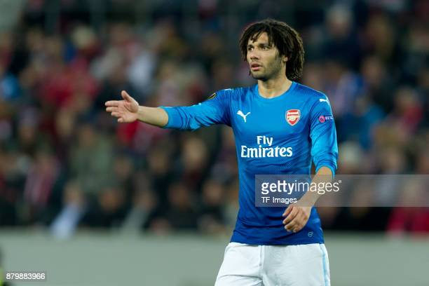 Mohamed Elneny of Arsenal gestures during the UEFA Europa League Group H soccer match between 1FC Cologne and Arsenal FC at the RheinEnergie stadium...