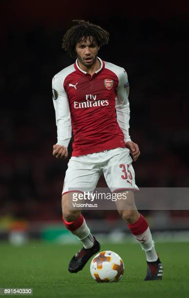 Mohamed Elneny of Arsenal in action during the UEFA Europa League group H match between Arsenal FC and BATE Borisov at Emirates Stadium on December 7...