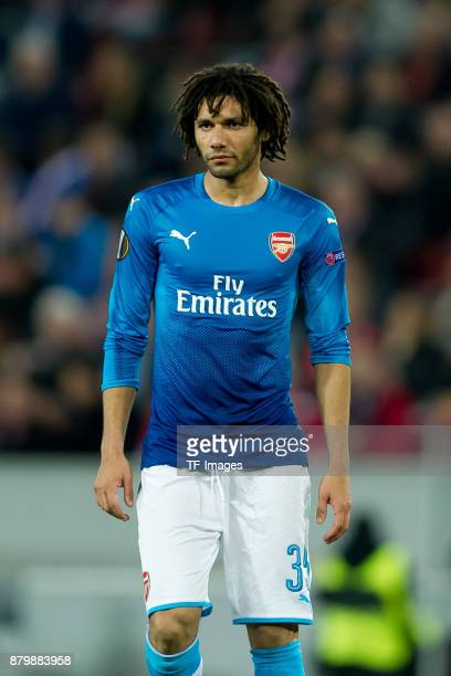 Mohamed Elneny of Arsenal looks on during the UEFA Europa League Group H soccer match between 1FC Cologne and Arsenal FC at the RheinEnergie stadium...
