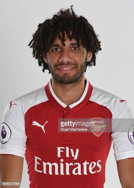 Mohamed Elneny of Arsenal poses in a first team photocall at Emirates Stadium on August 3 2017 in London England