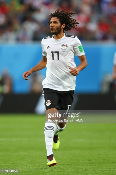 Mohamed Elneny of Egypt during the 2018 FIFA World Cup Russia group A match between Russia and Egypt at Saint Petersburg Stadium on June 19 2018 in...