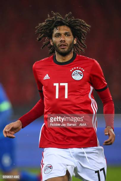Mohamed Elneny of Egypt during the International Friendly match between Egypt and Greece at Stadion Letzigrund at Letzigrund on March 27 2018 in...