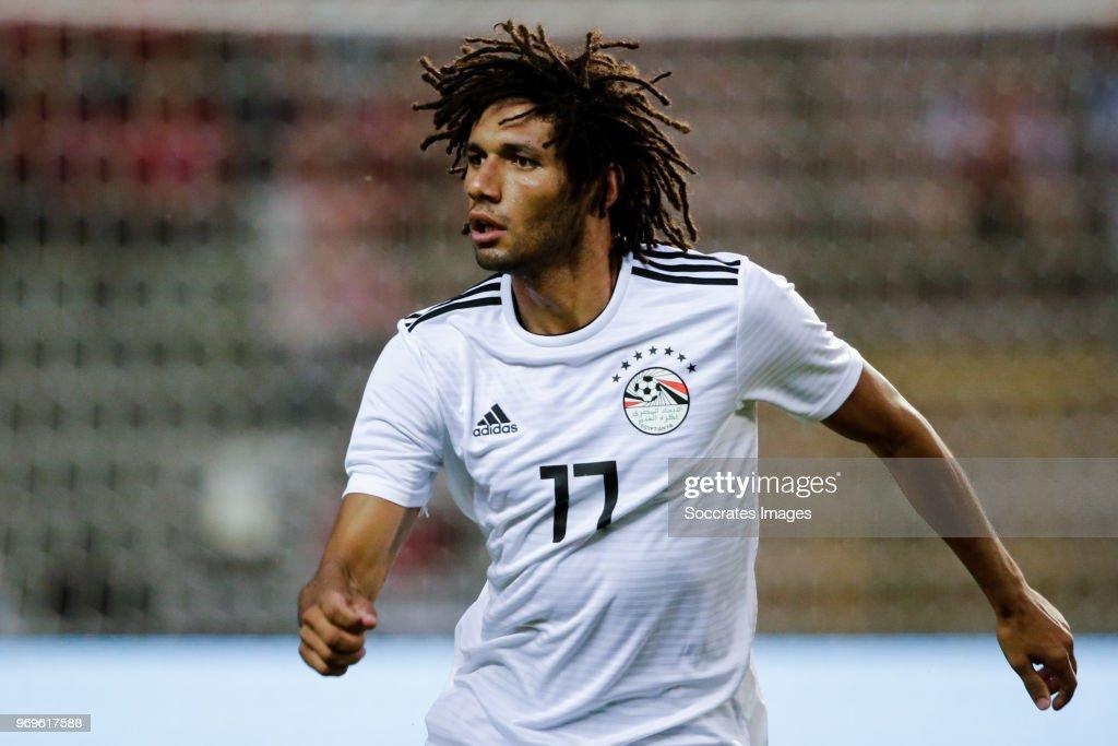 Mohamed Elneny of Egypt during the International Friendly match between Belgium v Egypt at the Koning Boudewijnstadion on June 6, 2018 in Brussel Belgium