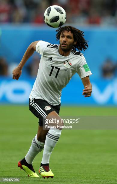 Mohamed Elneny of Egypt in action during the 2018 FIFA World Cup Russia group A match between Russia and Egypt at Saint Petersburg Stadium on June 19...