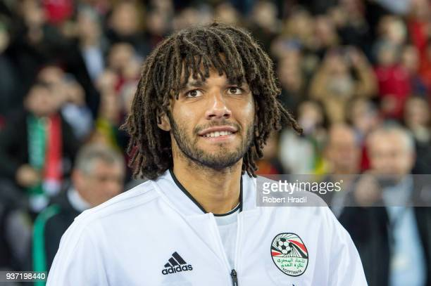 Mohamed Elneny of Egypt looks on during the International Friendly between Portugal and Egypt at the Letzigrund Stadium on March 23 2018 in Zurich...