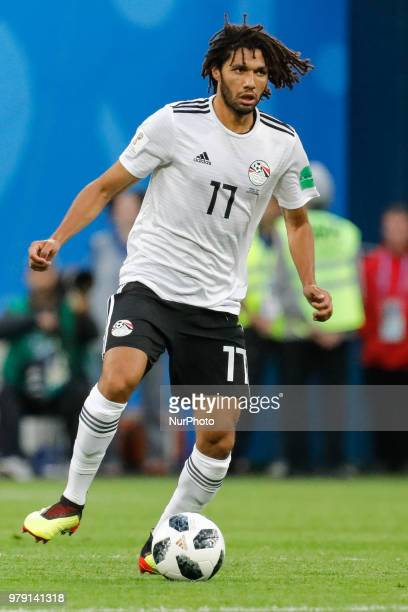 Mohamed Elneny of Egypt national team during the 2018 FIFA World Cup Russia group A match between Russia and Egypt on June 19 2018 at Saint...