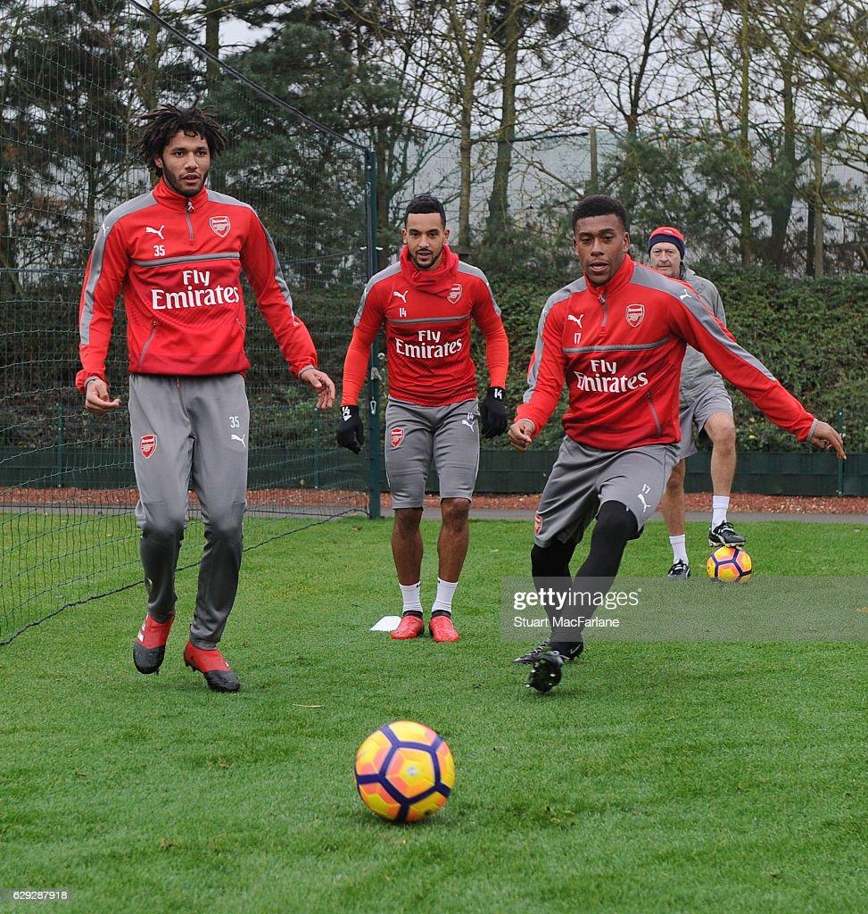 Arsenal Training Session : Nachrichtenfoto