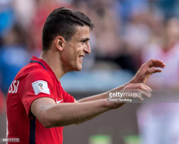 Mohamed Elyounoussi of Norway during International Friendly between Norway v Sweden at Ullevaal Stadion on June 13 2017 in Oslo Norway