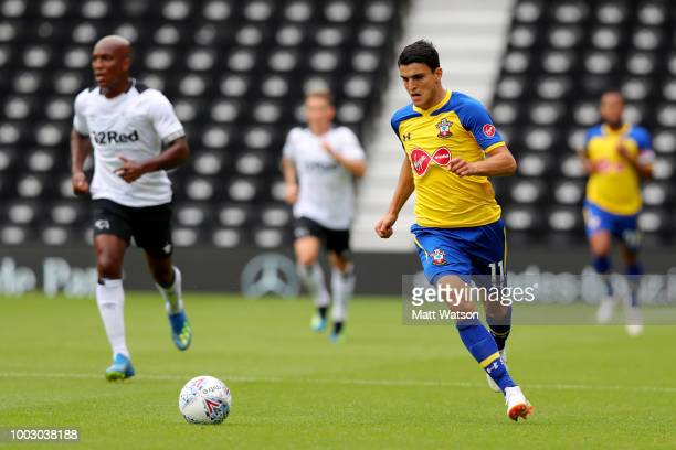 Mark Hughes of Southampton during the preseason friendly match between Derby County and Southampton at Pride Park on July 21 2018 in Derby England