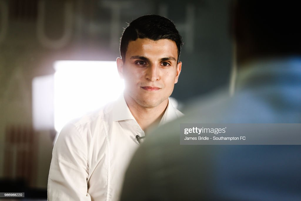 Mohamed Elyounoussi of Southampton FC during an interview after signing his contract pictured on June 28, 2018 at Staplewood Complex in Southampton, England.