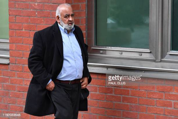 Mohamed Farouq arrives at court in Sheffield north England where he is charged with historical sexual offences on January 6 2020