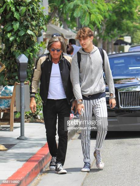 Mohamed Hadid and Anwar Hadid are seen on May 24 2017 in Los Angeles California