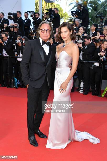 Mohamed Hadid and Bella Hadid attend the 'Ismael's Ghosts ' screening and Opening Gala during the 70th annual Cannes Film Festival at Palais des...