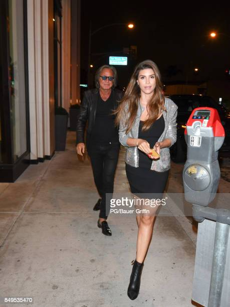 Mohamed Hadid and Shiva Safai are seen on September 18 2017 in Los Angeles California