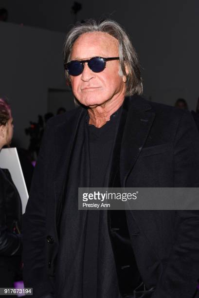 Mohamed Hadid attends Anna Sui Front Row February 2018 New York Fashion Week at Spring Studios on February 12 2018 in New York City