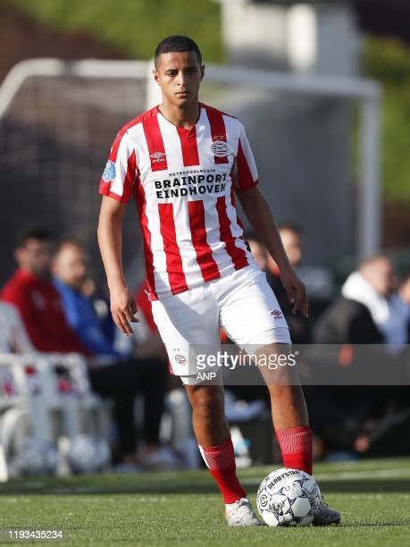 Mohamed Ihattaren of PSV during a international friendly match between PSV Eindhoven and KAS Eupen at Aspire Academy on January 11, 2020 in Doha,...