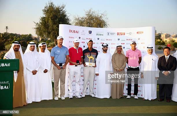 Mohamed Juma Buamaim, Vice Chairman and CEO of Golf in Dubai, Saeed Harib, Secretary-General of Dubai Sports Council, Shaikh Fahim Bin Sultan Al...