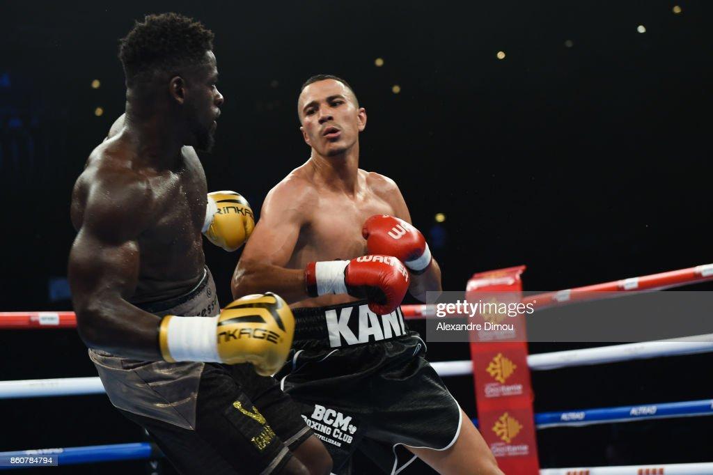 Mohamed Kani against Mokamba during the Boxitanie Event on October 12, 2017 in Montpellier, France.