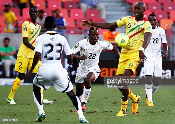 Mohamed Lamine Sissoko of Mali and Mubarak Wakaso of Ghana during the 2013 African Cup of Nations match between Mali and Ghana at Nelson Mandela Bay...