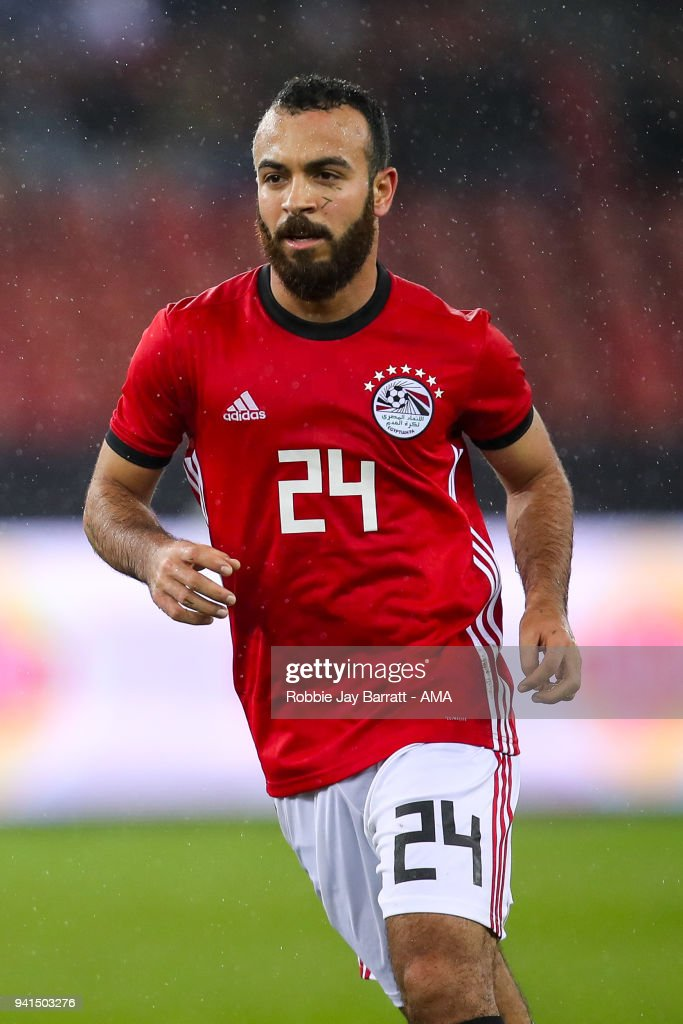 Mohamed Magdy of Egypt during the International Friendly match between Egypt and Greece at Stadion Letzigrund at Letzigrund on March 27, 2018 in Zurich, Switzerland.
