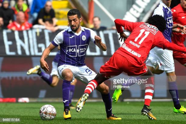 Mohamed Messoudi of Beerschot Wilrijk during the Jupiler Pro League play off 2 match between Royal Antwerp FC and Beerschot Wilrijk on April 15 2018...
