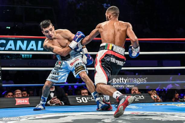 Mohamed Mimoune and Emiliano Dominguez Rodriguez during the Main Event 5 in Salle Marcel Cerdan on January 19 2018 in Paris France