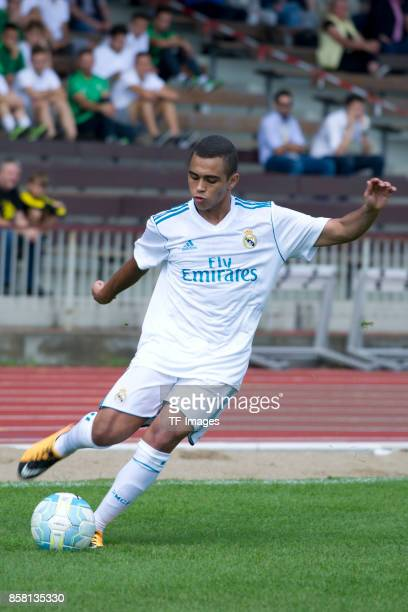 Mohamed Monkhliss of Real Madrid controls the ball during the EMKA RUHRCup International Final match between Borussia Dortmund U19 and Real Madrid...