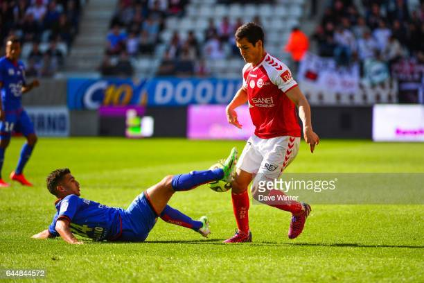 Mohamed Said BENRAHMA / Aissa MANDI Reims / Nice 32eme journee de Ligue 1 Photo Dave Winter / Icon Sport