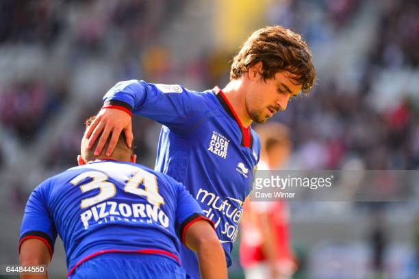 Mohamed Said BENRAHMA / Gregoire PUEL Reims / Nice 32eme journee de Ligue 1 Photo Dave Winter / Icon Sport